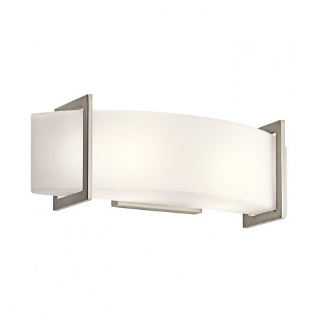 Kichler 45218NI Crescent View Collection Wall Sconce 2 Light in Brushed Nickel