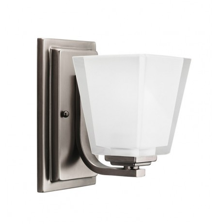 Kichler 5459AP Urban Ice Collection Wall Sconce 1 Light in Antique Pewter