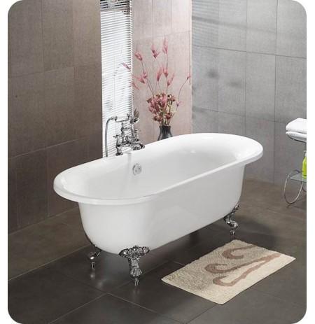 Cambridge Plumbing ADE 70 inch Acrylic Double Ended Clawfoot Bathtub