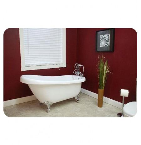 Cambridge Plumbing AST61 Acrylic Slipper Bathtub