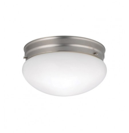 Kichler 209NI Ceiling Space Collection Flush Mt 2 Light in Brushed Nickel