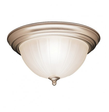 Kichler 8654NI Flush Mount 2 Light in Brushed Nickel
