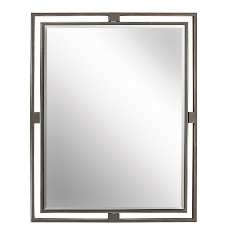 Kichler 41071OZ Olde Bronze Modern Rectangular Mirror from the Hendrik Collection