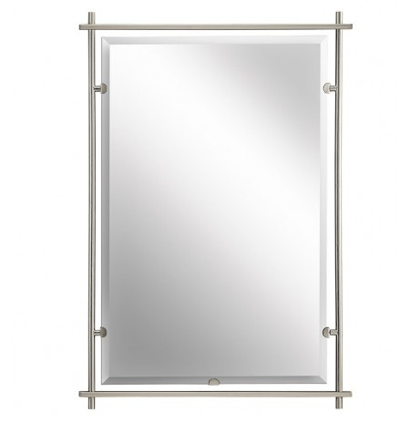 Kichler 41096NI Modern Large Rectangular Mirror from the Eileen Collection