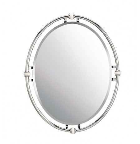 Kichler 41067CH Modern Rounded Mirror from the Pocelona Collection in Chrome